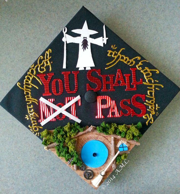 Lord Of The Rings Graduation Cap Graduation Cap Designs Graduation Cap Decoration Harry Potter Graduation Cap