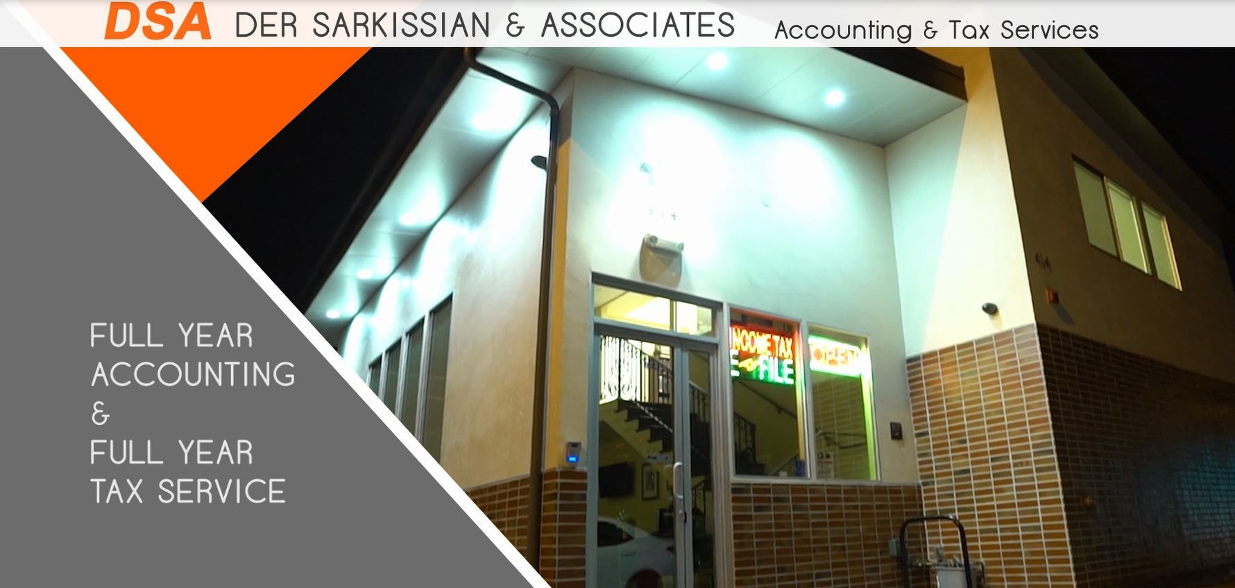 Tax preparation services for business entities and