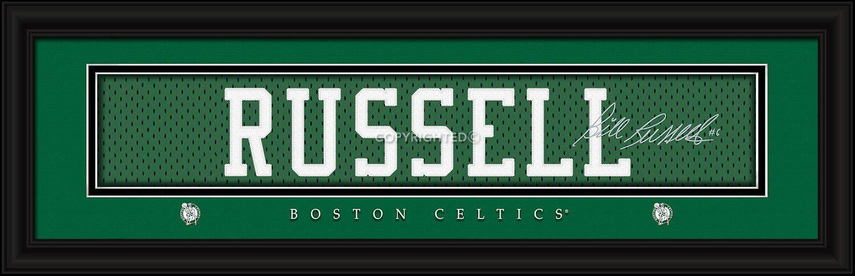 Boston Celtics Bill Russell Print - Signature 8\