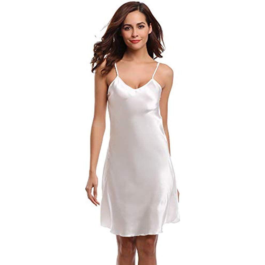 Photo of Aibrou Women's Nightgown Sexy Negligee Satin Night Dress Short …