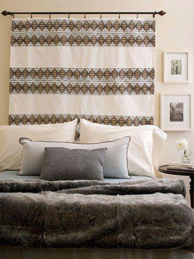 8 têtes de lit déco à faire pour pas cher Decor!! Pinterest