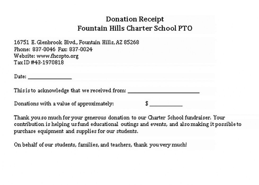Get Our Sample Of School Donation Receipt Template School Donations Receipt Template School Fundraisers
