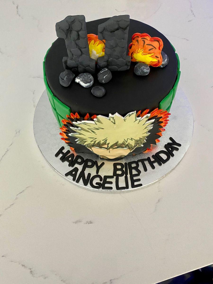 Katsuki Bakugou Cake Cake Desserts Birthday Cake