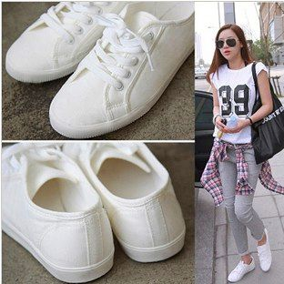 Solid color soft outsole shoes thin