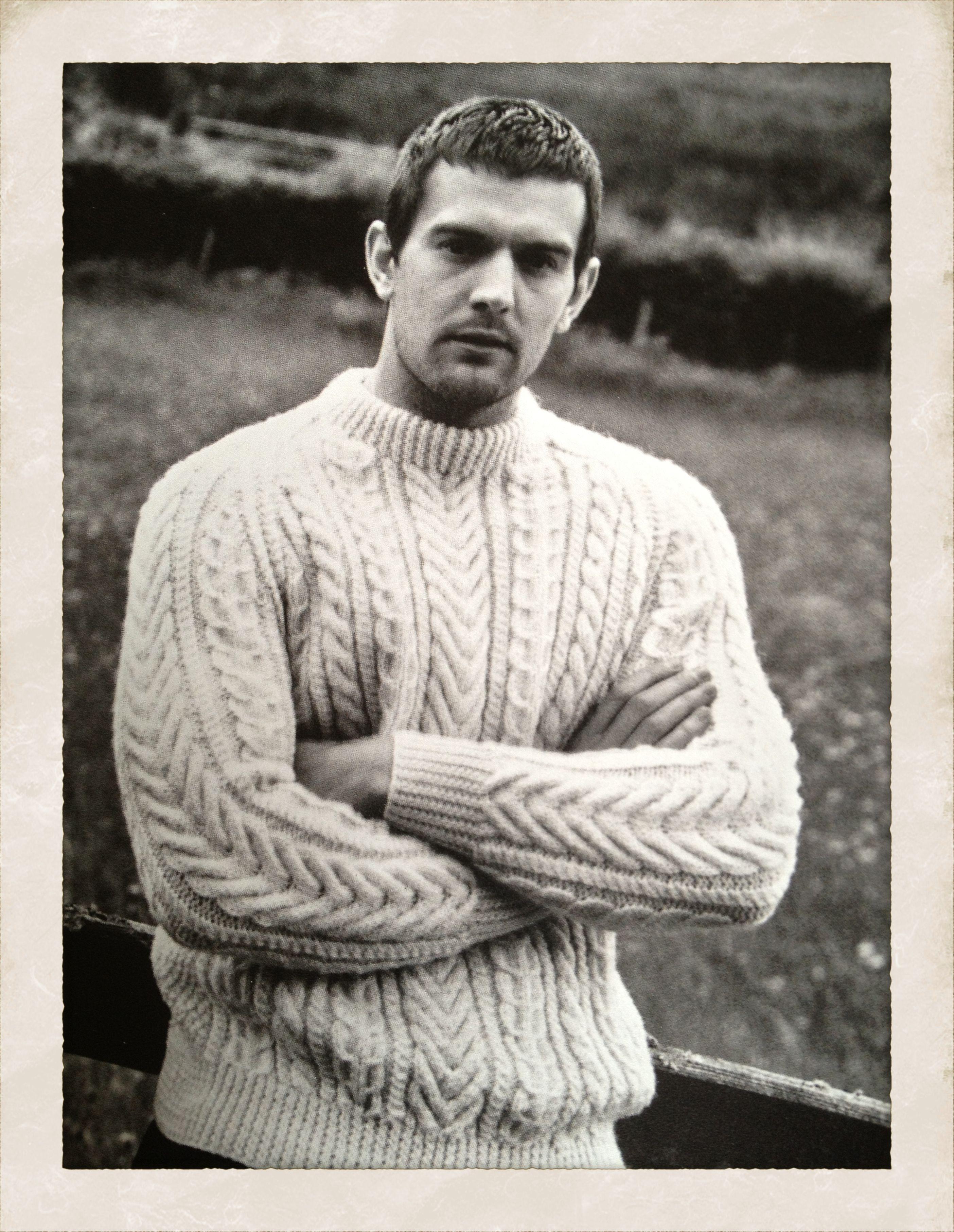 2bf54aafa45d00 SUNSPEL - 'Aran-knit jumper' | Aran Knitting | Sweaters, Men sweater ...