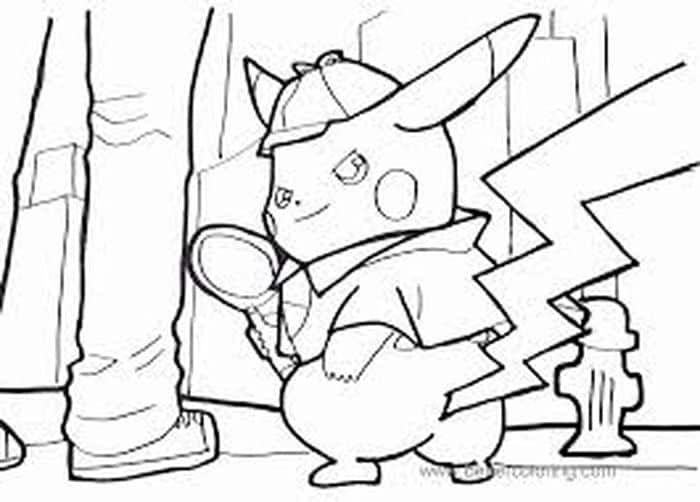 Detective Pikachu Coloring Pages Pikachu Coloring Page Bear Coloring Pages Cartoon Coloring Pages