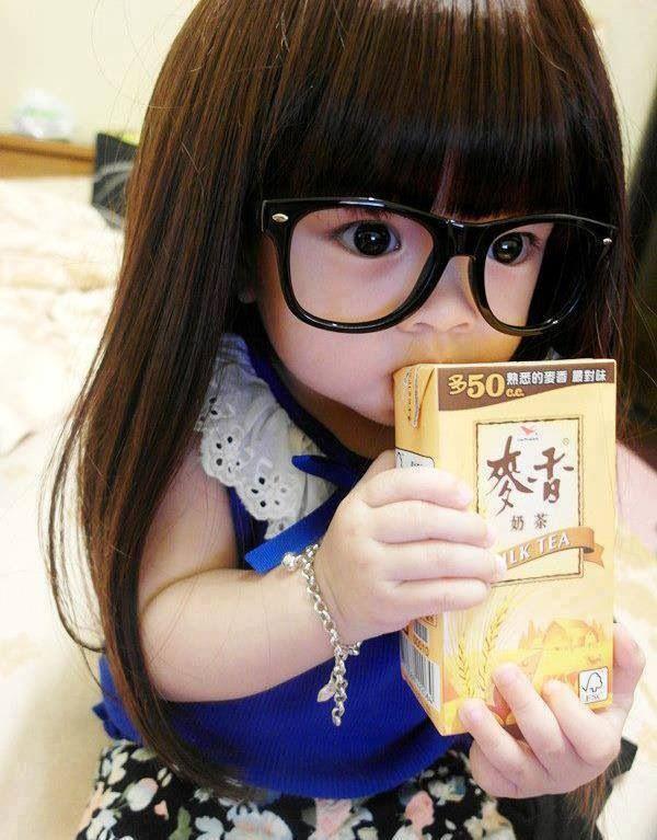 cute geeky girl