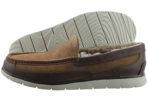 UGG Fascot 1014478-CHE Chestnut Suede Leather Slipper Shoes Medium (D M) Mens