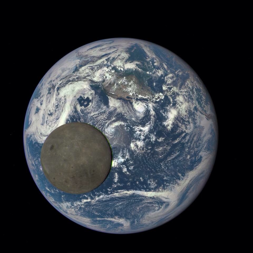 Far Side Of Moon Illuminated By The Sun Actual Real Image Not A