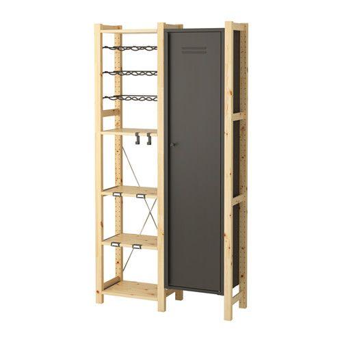 IVAR 2 Elem/Böden/Schrank, Kiefer, grau | Jewelry storage, Ikea hack ...