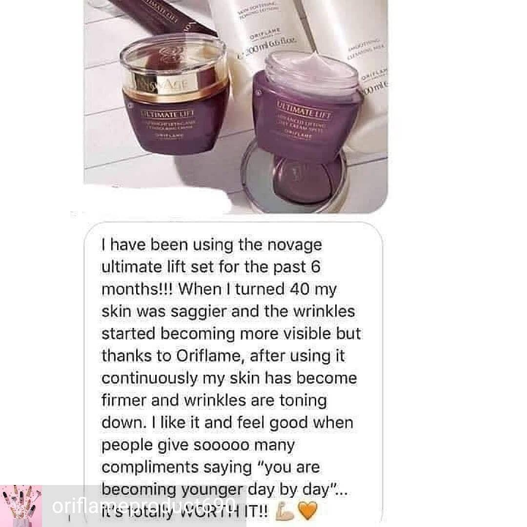 Reposted from @oriflame-cosmetics-85 (@get_regrann) -  Lovely feed back from the customer.  Anyone
