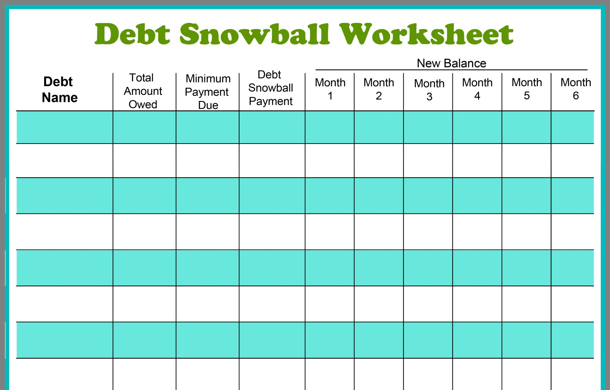 Pin By Anna Shelburg On Printables Debt Snowball Worksheet Debt Snowball Financial Peace