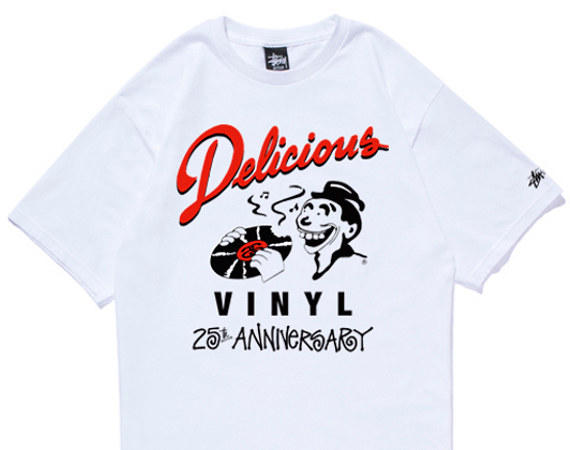 Stussy X Delicious Vinyl 25th Anniversary T Shirt Collection Stussy T Shirt Shirts