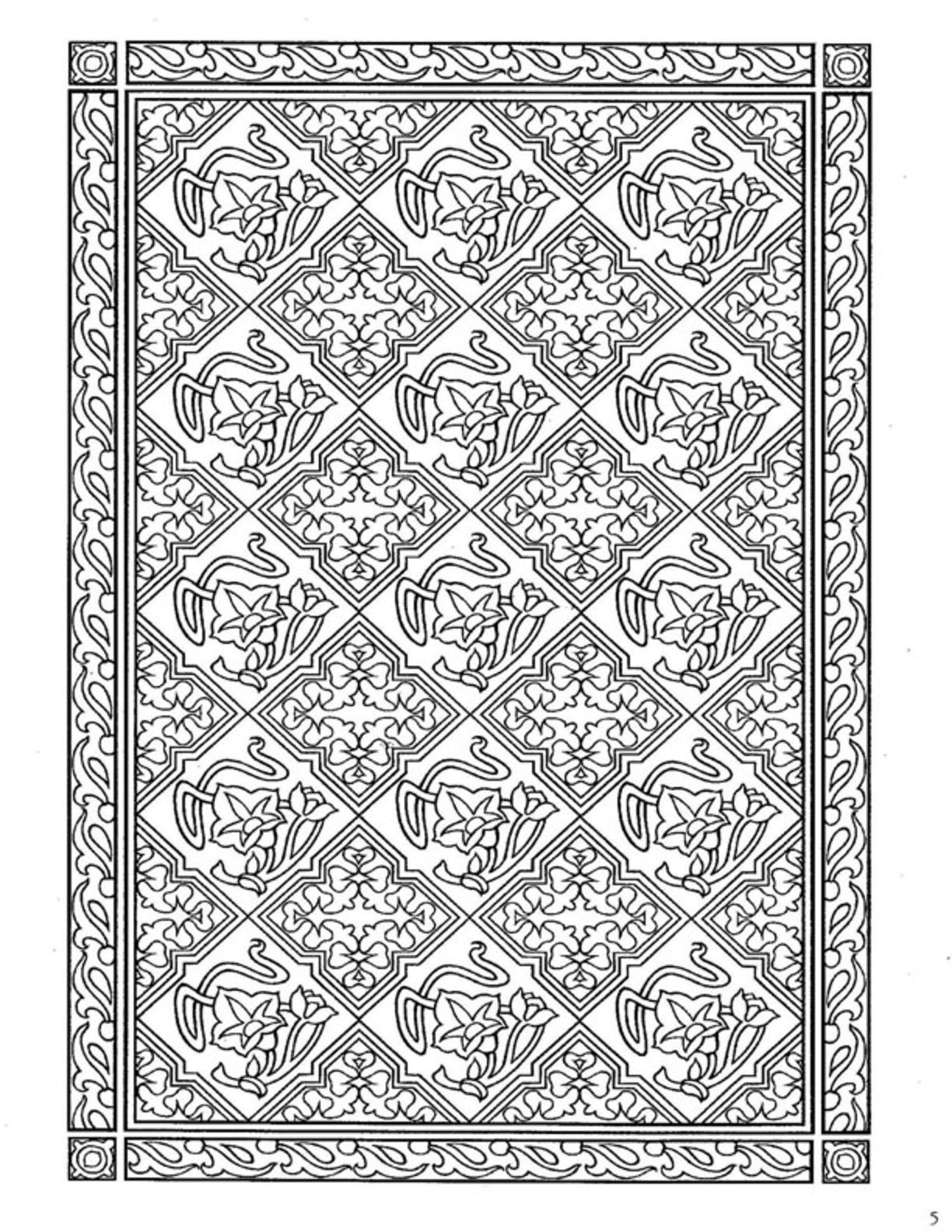 Dover Decorative Tile Coloring Book | Dover Coloring | Pinterest ...