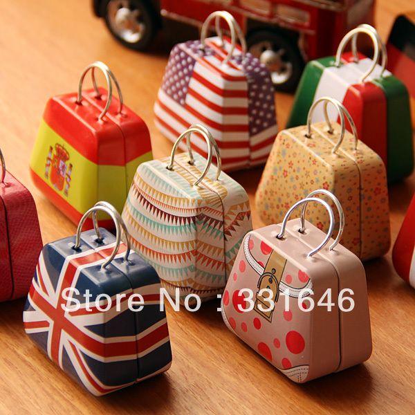 Handbag bag mini storage small coin earring button candy jewelry tin boxes gift storage boxes metal boxes home decor free ship-inGift Boxes ...
