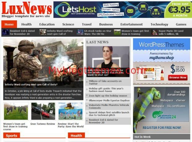 Last News Free Blogger Template Download #blogger #news ...