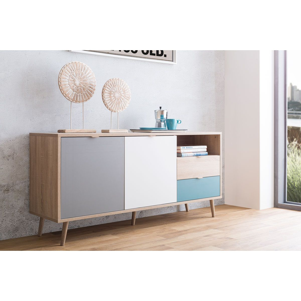 Sideboard Vitrine מזנון קומודה Cuba 51 In 2019 משרד Sideboard Oak Sideboard Low