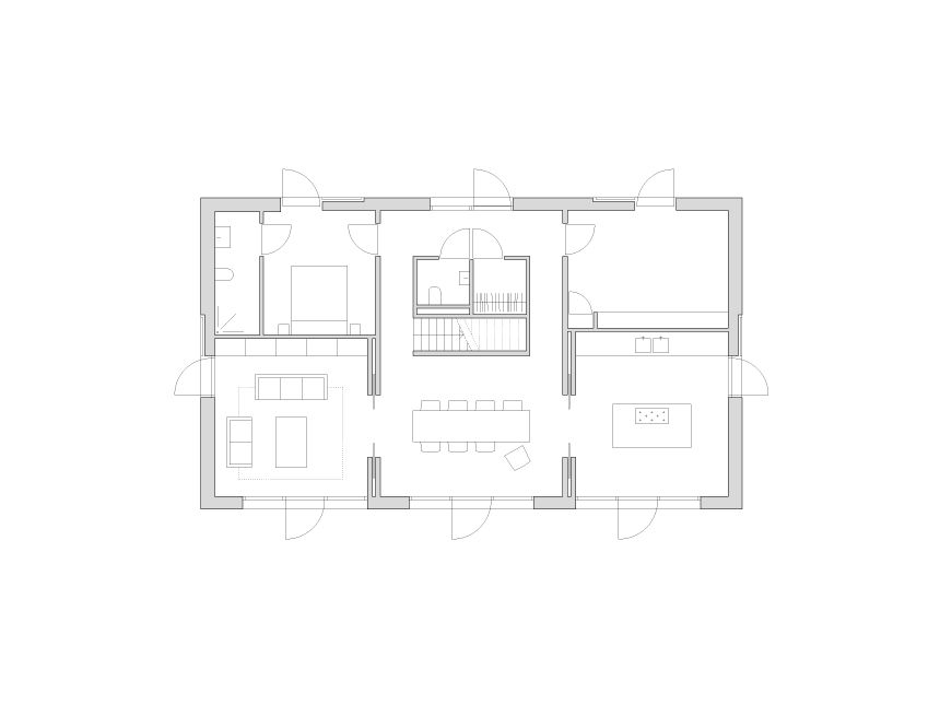 house in White|白の家 平面 篠原一男 architectural plans