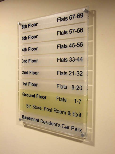 Building Directory Boards For Office Blocks And Apartment Blocks Directory Signs Signage Design Sign Design