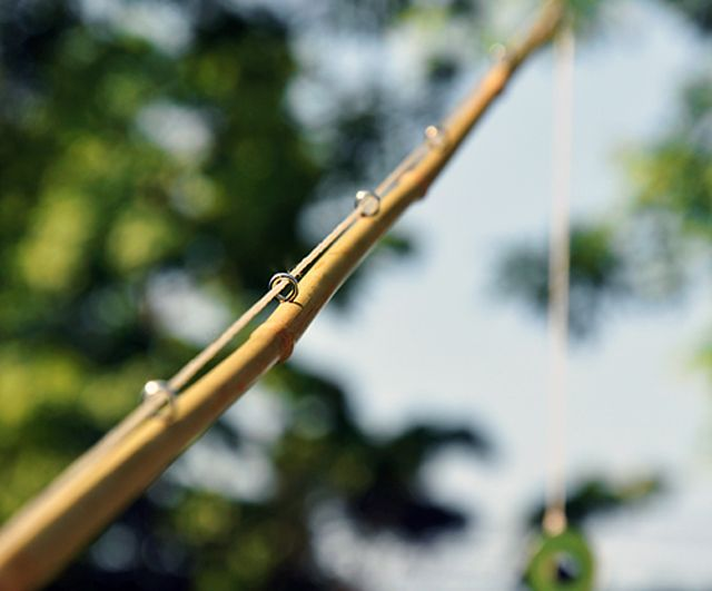 Make a cane fishing pole tutorial here for Bamboo fishing poles