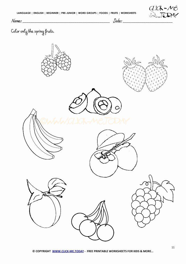 Fruits Coloring Worksheets For Kindergarten Awesome Fruits Worksheet 11 Color Onl Coloring Worksheets For Kindergarten Color Worksheets Kindergarten Worksheets Fruits coloring pages for kindergarten