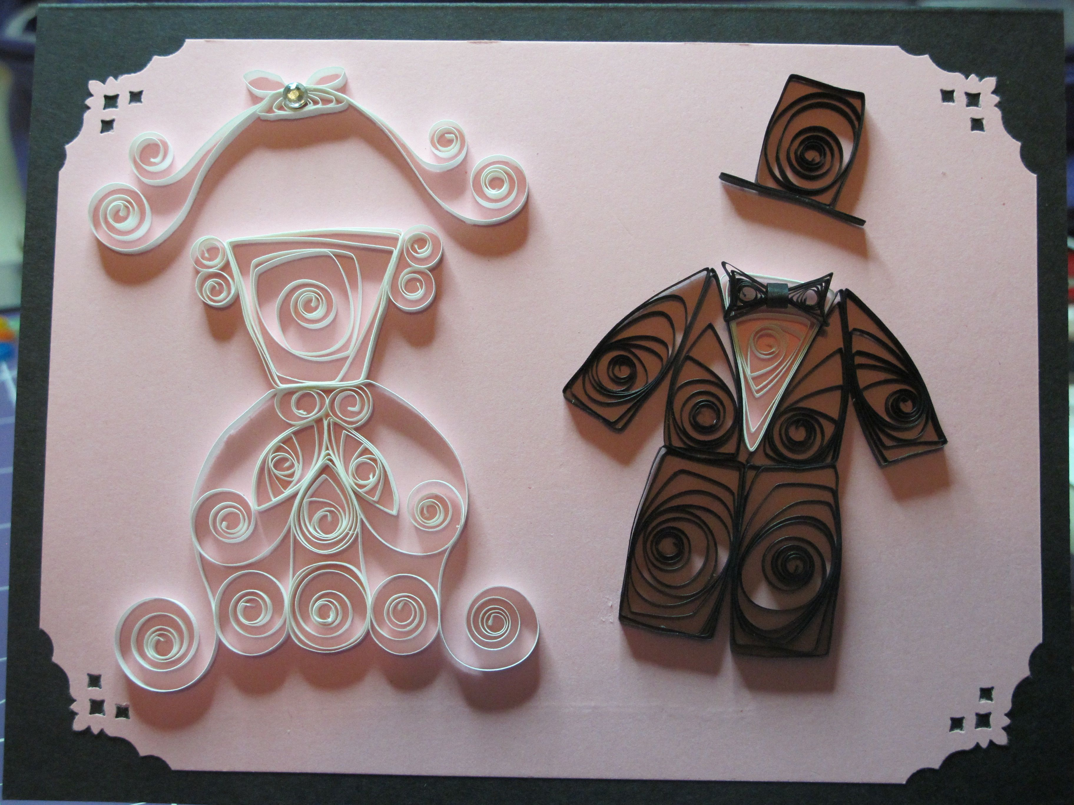 Quilled wedding anniversary card also quilling pinterest rh