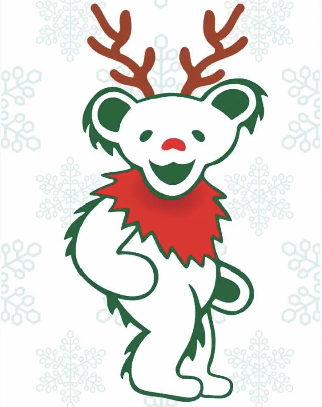 Dancing Bear Christmas Grateful Dead Grateful Dead