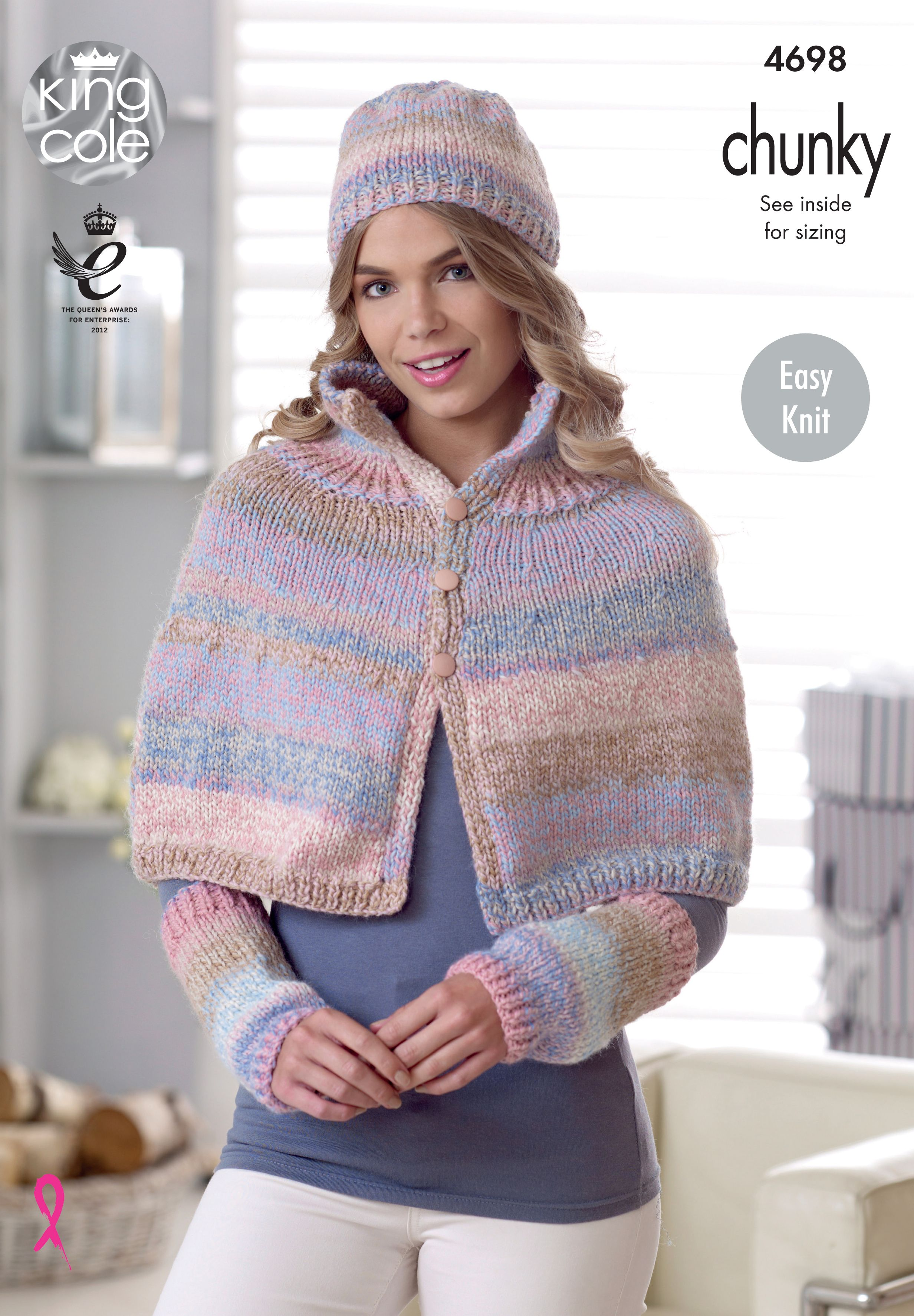 Knitted Cape, Hat & Wrist Warmers Knitted with Cotswold Chunky ...
