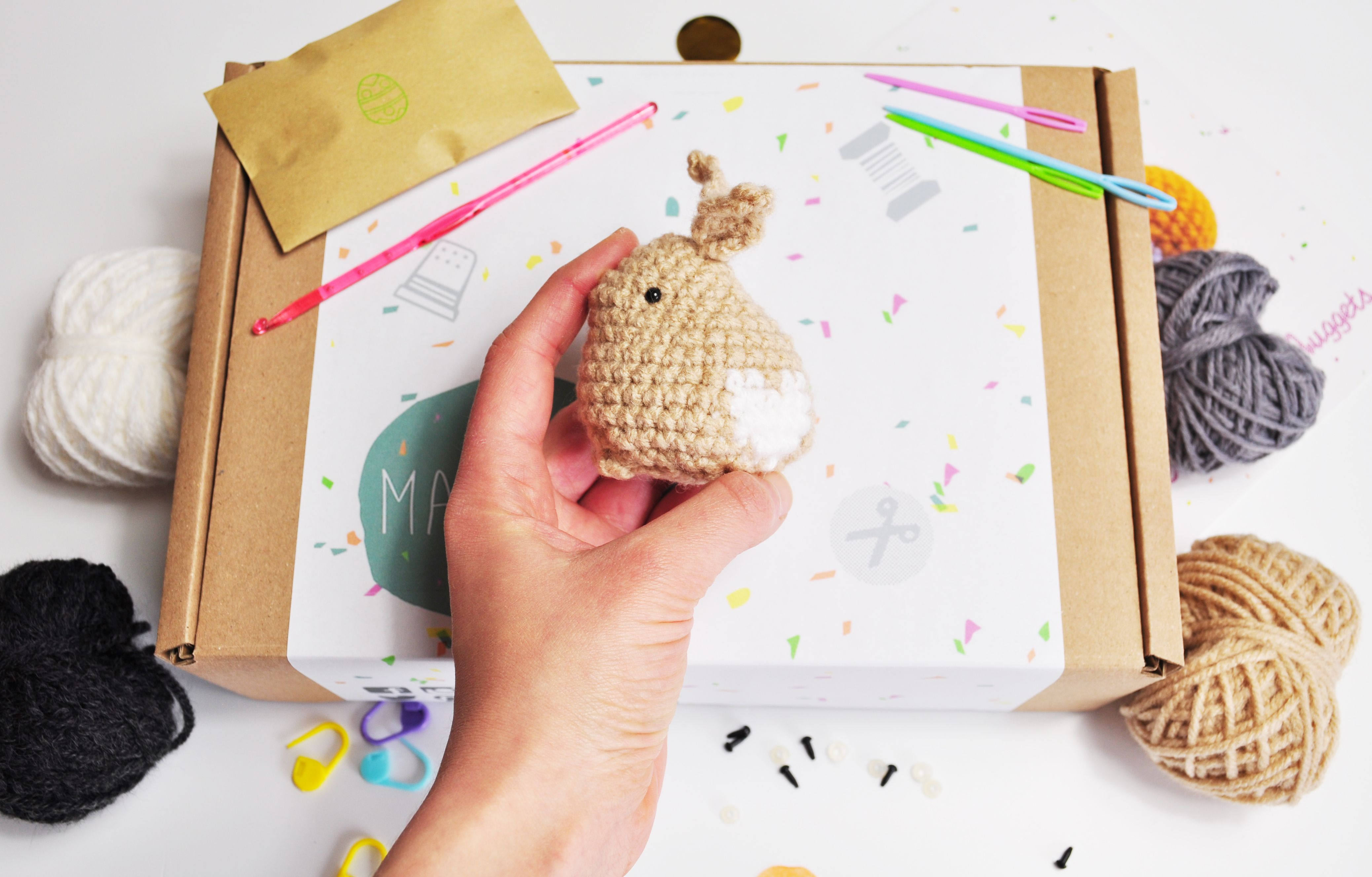 Make Your Own Crochet Bunny Kit From Makerly Crafts Craft Box Subscription Bunny Crafts Monthly Crafts