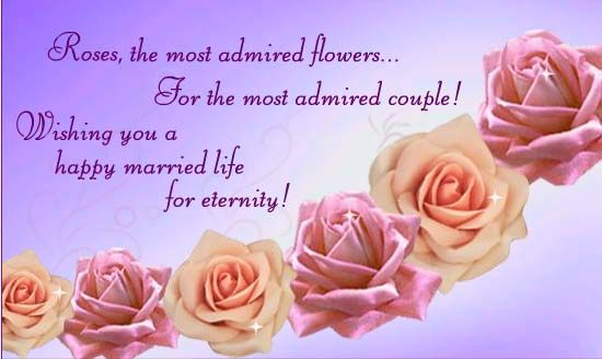 Wish A Most Admired Couple You Know A Happy Married Life On