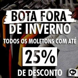 Se liga no Bota Fora de Inverno da Me Gusta Store!!! Últimas peças de moletons a preço de banana!! ;) #liquidação #bafciadasalmas #preçodebanana #promoção