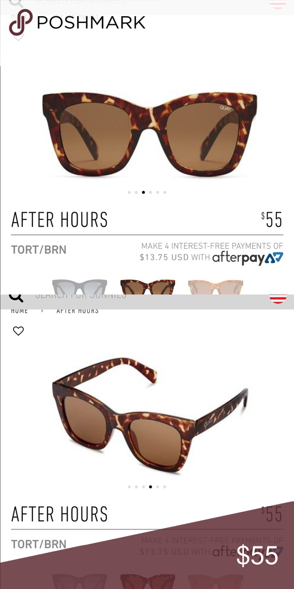 a59c1653ac75 New (with tags) Quay After Hours sunglasses. Never been worn