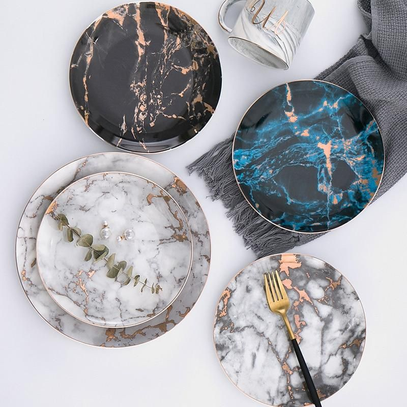Oscar Marble Dinner Plates With Images Marble Plates Marble