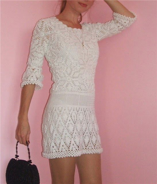 d3c3b6849fbb Graficos y Crochet  Vestido de Verano Vanessa Montoro