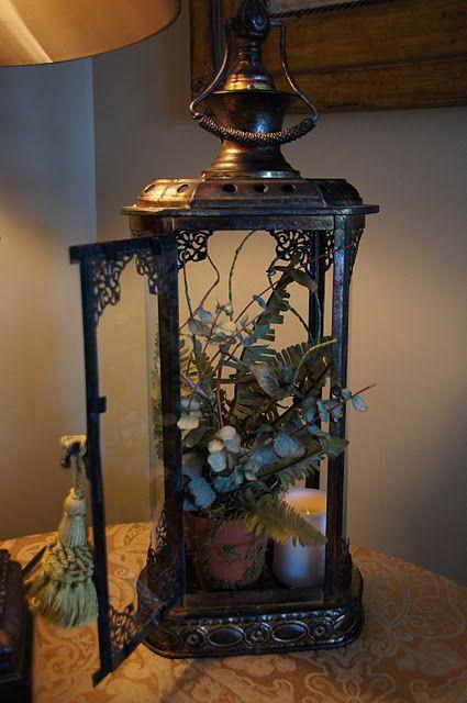 Infuse With Liz Lantern Vignette Lanterns Decor Antique Oil Lamps Unique Decor