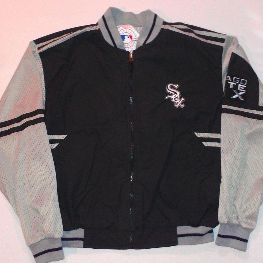 Chicago White Sox Jacket Vtg Mens Sz L Full Zip Genuine Windbreaker Mesh Mlb Vintage Jacket Men Mens Jackets Vintage Jacket [ 897 x 897 Pixel ]