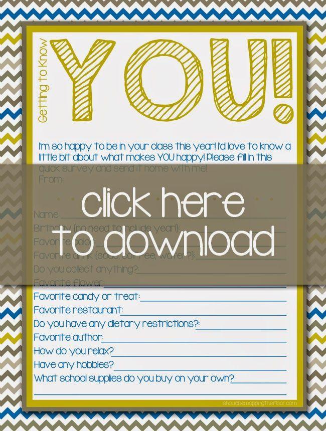 Free Printable Teacher Surveys Teacher survey, Free printable - printable surveys