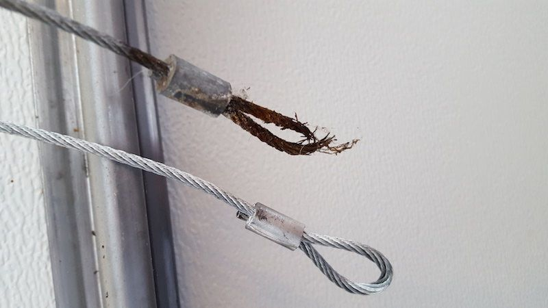 Frayed Garage Door Cables Garage Door Cable Broken Garage Door