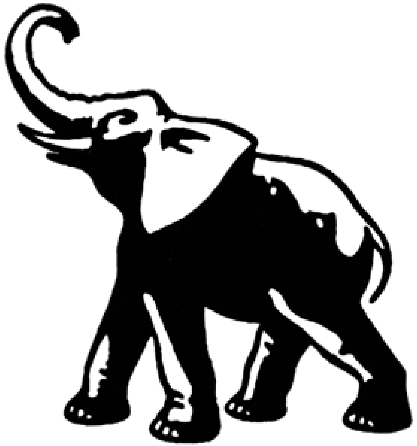 elephant clip art i scanned this out of a clipart book arleigh rh pinterest com white elephant clip art free white elephant sale clipart