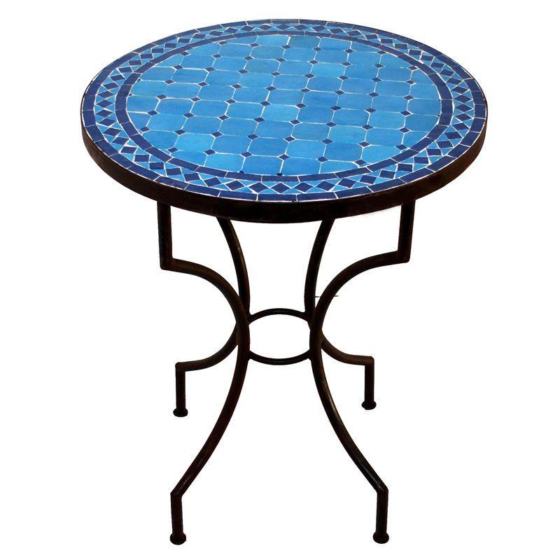 Orientalischer Marokkanischer Mosaiktisch Teetisch Orient D60cm