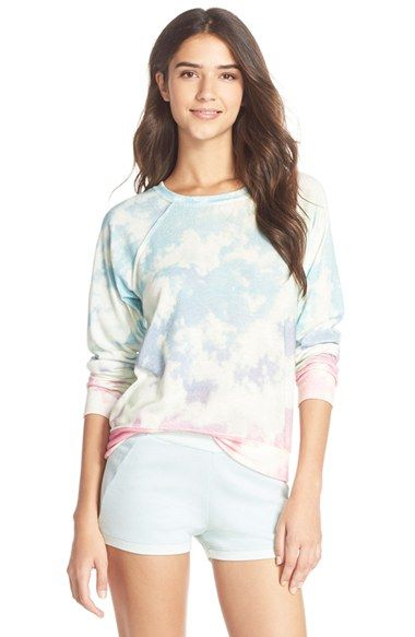35mm Clothing 'Jenna' Print Hacci Sweatshirt available at #Nordstrom