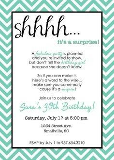 Pin by nancy salazar on Moms Surprise party Pinterest Birthday