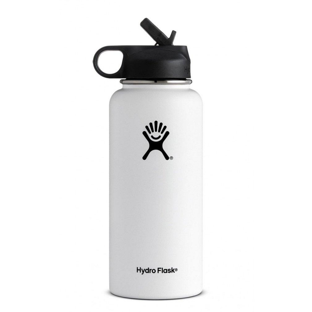 32 Oz Wide Mouth W Straw Lid White Sanlicks Com Hydro Flask Water Bottle Flask Water Bottle Hydro Flask Bottle