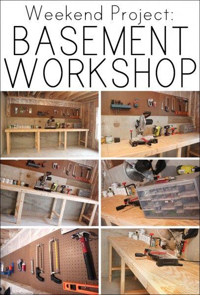 Weekend Project Basement Workshop Diy Your Home Basement