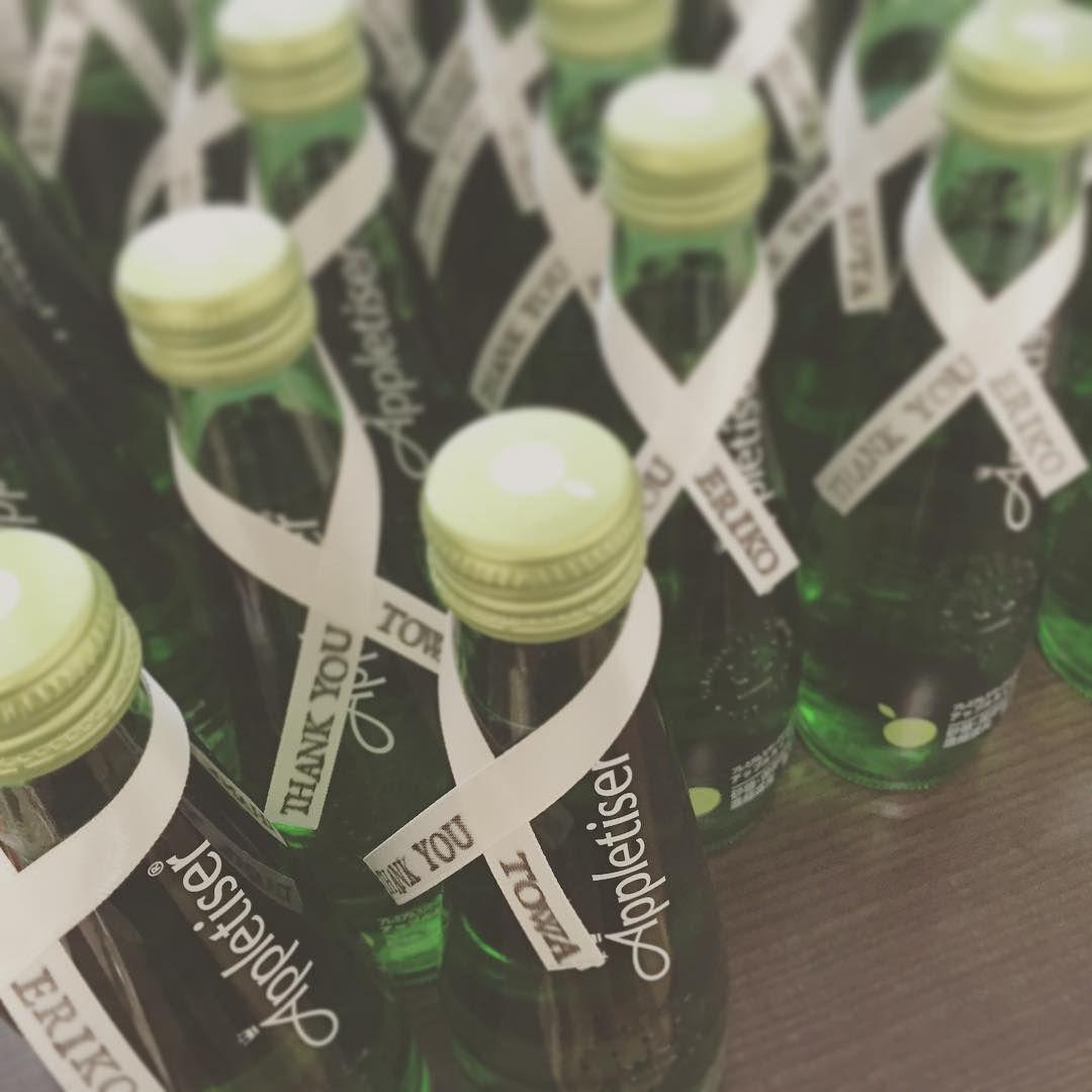 リンゴ果汁100%の「アップルタイザー」は飲み物プチギフトに