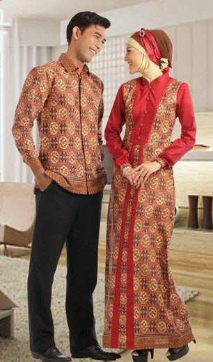 c0727d5a2b5ae295093674f3038deff1 baju batik muslim couple murah hijab pinterest batik muslim,Model Baju Muslim Variasi Batik