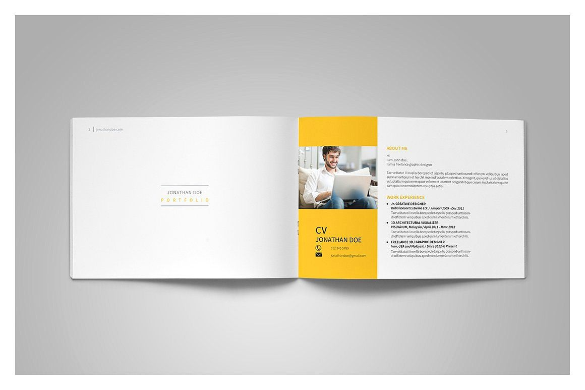 Graphic Design Portfolio Template #present#purposes#multiple