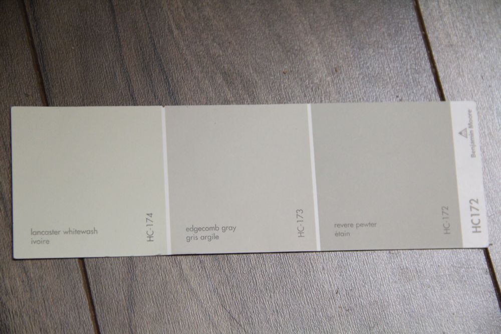Best Benjamin Moore Edgecomb Gray From Left To Right 400 x 300