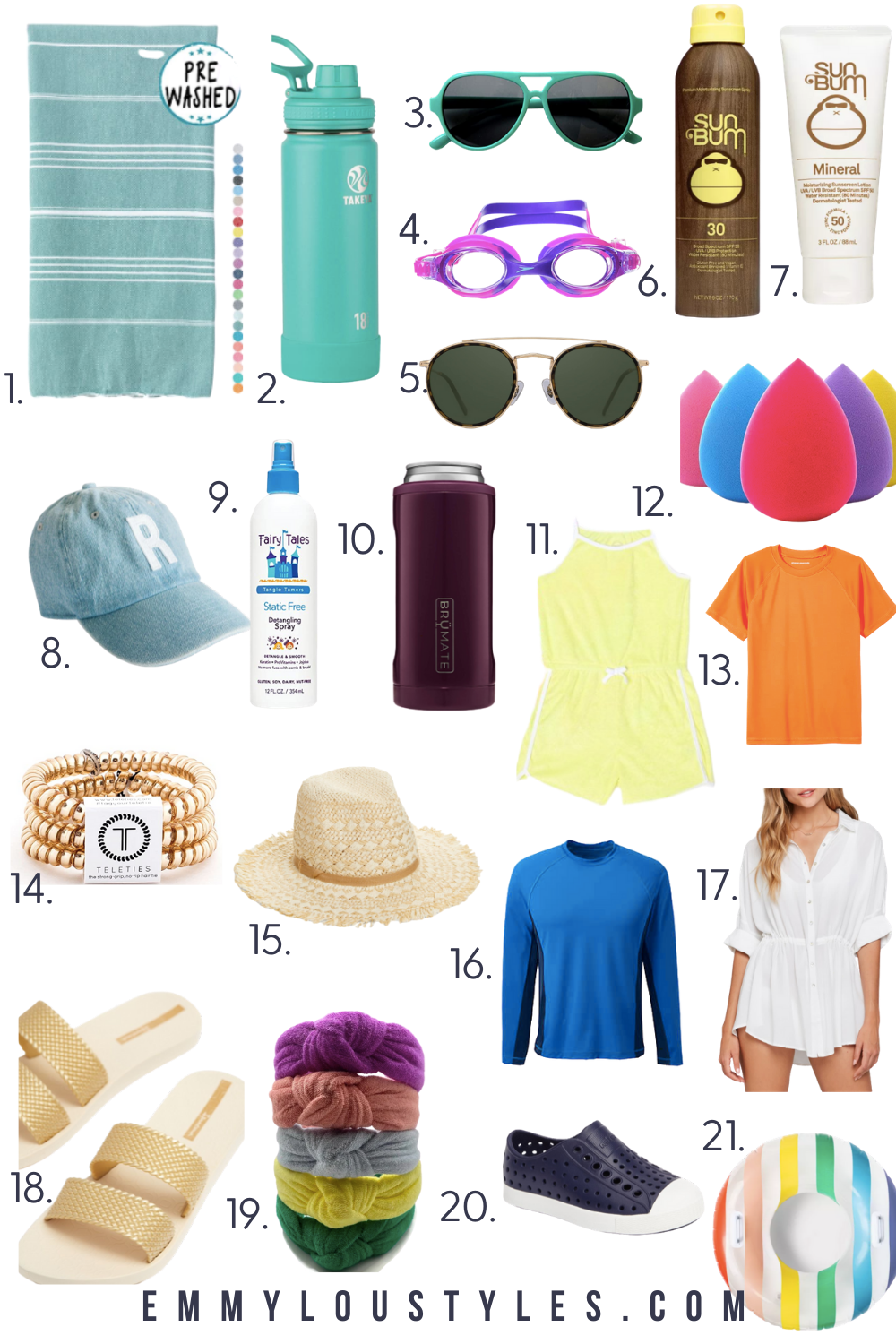 Summer is here! Check out this post to read about all of my must have pool items for the entire family! #summer #summerfashion #beachbagessentials