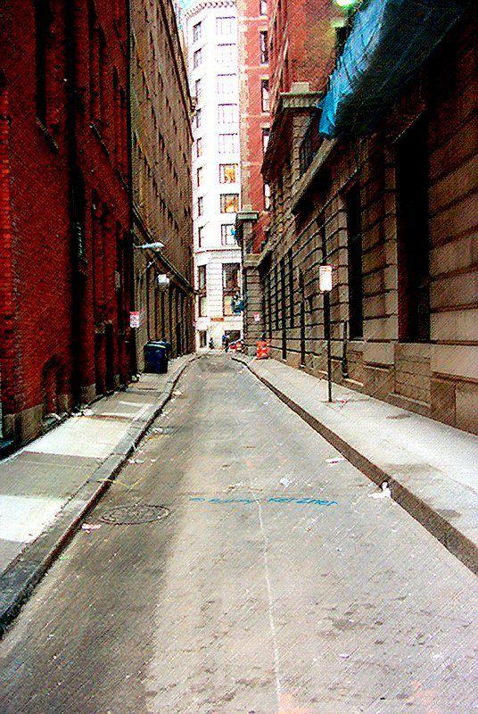 Boston Alleyway Alleyway, Scared, Dream